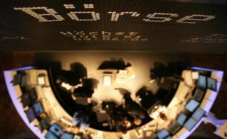 Thetrading floor of the Frankfurt stock exchange, in a file photo. REUTERS/Kai Pfaffenbach