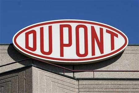 A DuPont logo is pictured on the EMEA (Europe, Middle East & Africa) and Du Pont de Nemours International SA building in Grand-Saconnex near Geneva August 4, 2009. REUTERS/Denis Balibouse