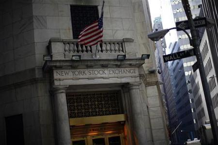 The New York Stock Exchange is seen February 9, 2011. REUTERS/Eric Thayer