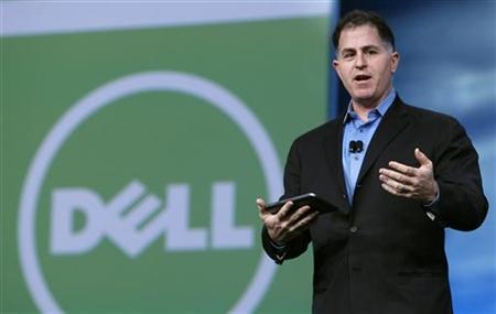 Dell founder and CEO Michael Dell delivers his keynote address at Oracle Open World in San Francisco, September 22, 2010. REUTERS/Robert Galbraith