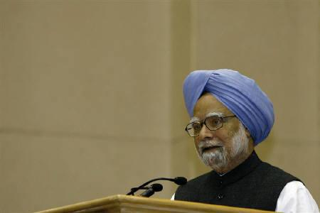 Prime Minister Manmohan Singh is seen in New Delhi February 5, 2010. Singh defended himself on Wednesday against accusations his government had become a lame duck amid corruption scandals that have weakened his ruling coalition. REUTERS/B Mathur/Files