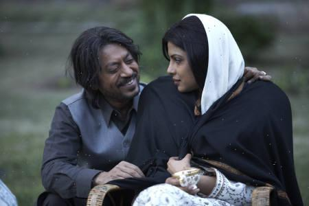 A handout photo shows actors Irrfan Khan (L) and Priyanka Chopra in a still from director Vishal Bhardwaj's film ''7 Khoon Maaf.'' REUTERS/Handout