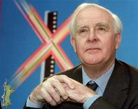<p>British author John le Carre addresses a news conference at the 51th Berlinale International Film Festival in Berlin February 11, 2001.</p>