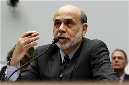 Chairman of the Federal Reserve Ben Bernanke testifies before the House Committee on Financial Services on Capitol Hill in Washington March 2, 2011. REUTERS/Kevin Lamarque