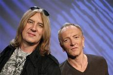 <p>Def Leppard lead singer Joe Elliott (L) and lead guitarist Phil Collen pose together in New York March 4, 2011. REUTERS/Brendan McDermid</p>