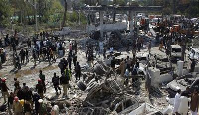 Bomb kills 25 at Pakistan gas station, many hurt