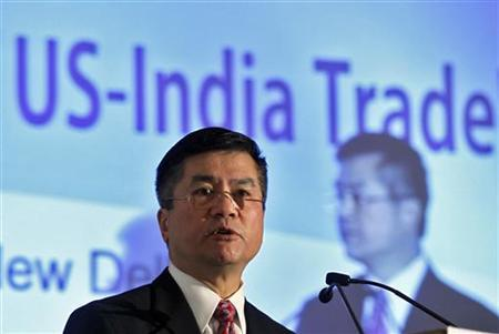 U.S. Commerce Secretary Gary Locke speaks during a session on ''Unlocking the Potential of US-India Trade'' in New Delhi February 7, 2011. REUTERS/Adnan Abidi