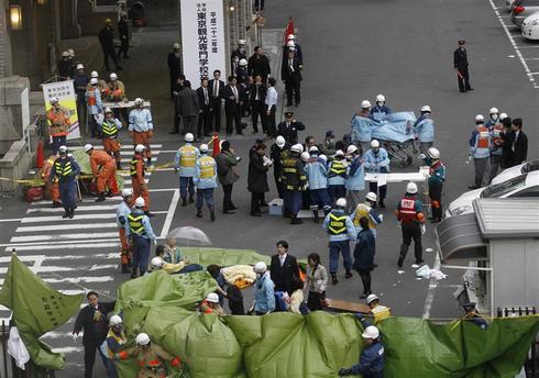 The scene in Tokyo