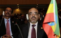 <p>Ethiopia's Prime Minister Meles Zenawi attends the 16th African Union summit, in Ethiopia's capital Addis Ababa, January 30, 2011. REUTERS/Thomas Mukoya</p>