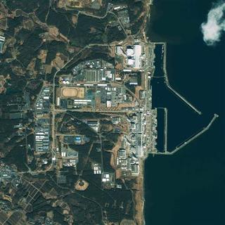 This GeoEye's IKONOS satellite image was taken over the Fukushima Daiichi nuclear power plant in Japan at 10:19 am (Tokyo time) on March 17, 2011 and released to Reuters on March 17. REUTERS/GeoEye Satellite Image/Handout