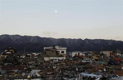 Tsunami aftermath in Japan