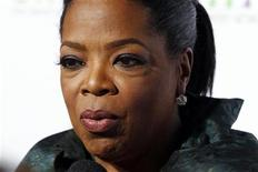 <p>Talk show host Oprah Winfrey is interviewed at the OWN: Oprah Winfrey Network launch cocktail reception for the Television Critics Association winter press tour in Pasadena, California January 6, 2011. REUTERS/Fred Prouser</p>