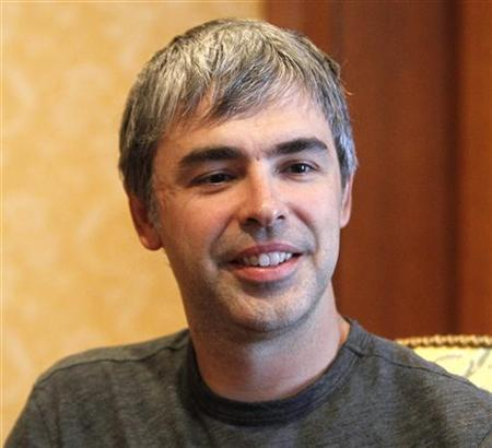 Google co-founder Larry Page is seen at the Sun Valley Inn in Sun Valley, Idaho in this July 8, 2010 file photograph. REUTERS/Mario Anzuoni/Files