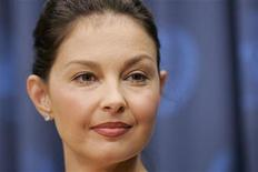 <p>Actress Ashley Judd attends a news conference to speak about her philanthropic efforts to combat human trafficking, at United Nations Headquarters in New York, June 3, 2008. REUTERS/Chip East</p>