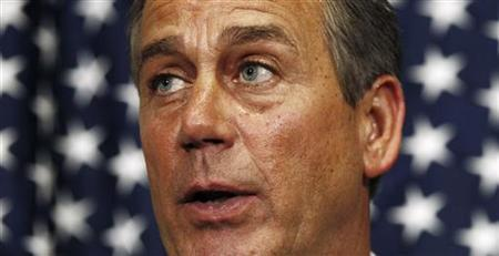Speaker of the House John Boehner announces a budget deal in the Capitol in Washington April 8, 2011. REUTERS/Kevin Lamarque