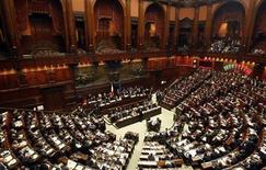 <p>An overview of the lower house of parliament in Rome April 13, 2011. REUTERS/Max Rossi</p>