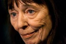 <p>Author Beryl Bainbridge gives an interview after a photo opportunity for Booker Prize shortlist nominees at a London bookstore October 27. KL/GB</p>