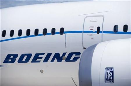 The engine and body of the Boeing 787 Dreamliner is seen at the Farnborough International Airshow 2010 in Farnborough, July 19, 2010. REUTERS/Kieran Doherty