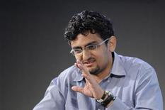 <p>Internet activist Wael Ghonim of Egypt participates in a panel discussion on youth, jobs and growth in the Middle East and North Africa, at the IMF headquarters in Washington, April 15, 2011. REUTERS/Jonathan Ernst</p>