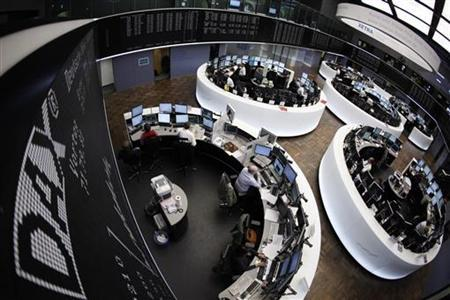 The DAX board and trading floor are pictured at the Frankfurt stock exchange April 4, 2011. REUTERS/Alex Domanski