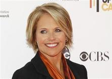 "<p>CBS news anchor Katie Couric poses at the ""Stand Up To Cancer"" television event, aimed at raising funds to accelerate innovative cancer research, at the Sony Studios Lot in Culver City, California September 10, 2010. REUTERS/Danny Moloshok</p>"
