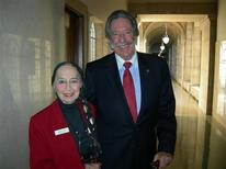 <p>Sally Gordon is seen on the first day of the 2011 Legislative Session with her son Jim Gordon. REUTERS/Courtesy of Karen Kilgarin/Handout</p>