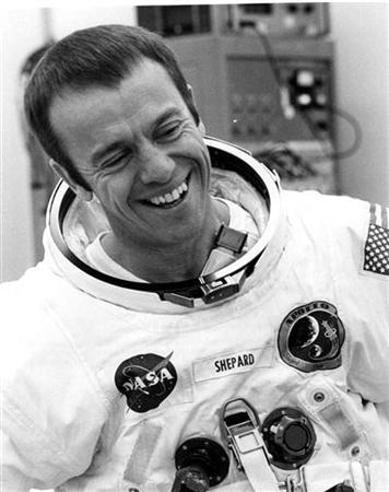 Alan Shepard, the first American in space, in a 1971 file photo. REUTERS/File