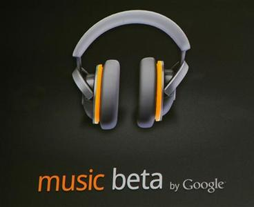 The cloud-based music player ''Music Beta'' is unveiled during the keynote address at the Google IO Developers Conference in the Moscone Center in San Francisco, May 10, 2011. REUTERS/Beck Diefenbach