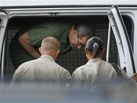 Allen Stanford exits a van upon arriving at federal court for a hearing before U.S. District Judge Nancy Atlas in Houston in this August 24, 2010 file photo. REUTERS/Richard Carson