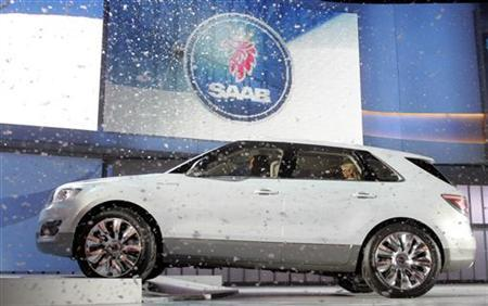 General Motors unveils the Saab 9-4X BioPower concept vehicle during the press preview at the 2008 North American International Auto Show in Detroit, in this file image from January 13, 2008. REUTERS/ Mike Cassese/Files