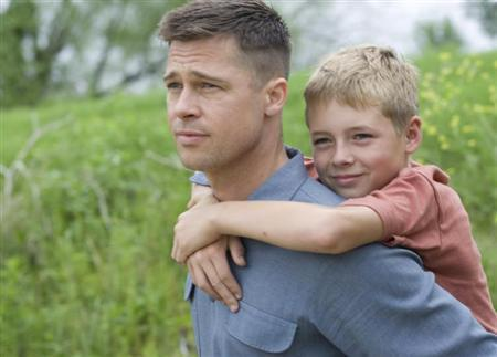 Brad Pitt and Laramie Eppler in a scene from 'The Tree of Life' from director Terrence Malick. REUTERS/Fox Searchlight