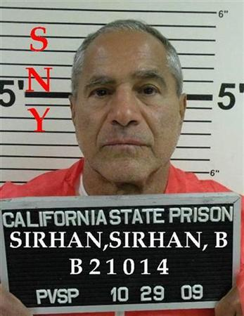 Sirhan Sirhan in a 2009 photo. REUTERS/California Department of Corrections and Rehabilitation