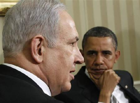U.S. President Barack Obama meets with Israel's Prime Minister Benjamin Netanyahu in the Oval Office at the White House in Washington, May 20, 2011. REUTERS/Jim Young