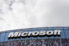 """<p>Microsoft estime que l'amende de 899 millions d'euros que les autorités européennes de la concurrence lui ont infligée en 2008 est disproportionnée. Le géant américain des logiciels a plaidé le fait que cette amende était """"grandement imméritée"""" lors d'une audience devant la justice de l'Union. /Photo d'archives/REUTERS/Charles Platiau</p>"""
