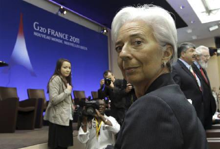 France's Finance and Economy Minister Christine Lagarde attends a G20 Globalisation conference in Paris May 23, 2011. REUTERS/Bob Edme/Pool