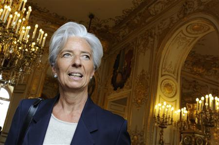France's Finance Minister Christine Lagarde arrives to attend the 17th Children's Parliament at the National Assembly in Paris May 28, 2011. REUTERS/Gonzalo Fuentes