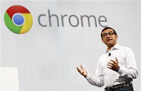 Vic Gundotra, senior vice-president of social for Google, begins the keynote address at the Google I/O Developers Conference in the Moscone Center in San Francisco, California, May 11, 2011. REUTERS/Beck Diefenbach