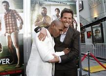 "<p>Mike Tyson (L) poses with cast member Bradley Cooper at the premiere of ""The Hangover Part II"" at Grauman's Chinese theatre in Hollywood, California May 19, 2011. REUTERS/Mario Anzuoni</p>"