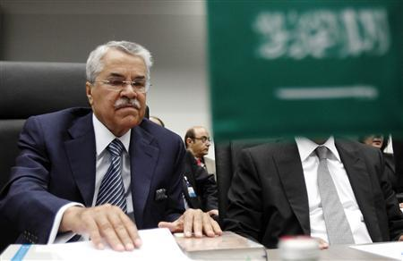 Saudi Arabia's Oil Minister Ali al-Naimi looks at documents at the beginning of an OPEC meeting in Vienna, June 8, 2011. REUTERS/Heinz-Peter Bader