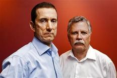 <p>i4i Chairman Loudon F. McLean Owen (L) and Chief Technology Officer and Founder Michel Vulpe pose for a portrait in Toronto, July 13, 2010. REUTERS/Mark Blinch</p>