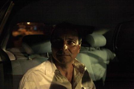Former Italian guerrilla Cesare Battisti leaves the prison in Brasilia June 8, 2011. REUTERS/Ricardo Moraes