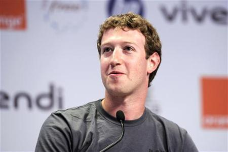 Facebook founder and CEO Mark Zuckerberg attends the eG8 forum in Paris, May 25, 2011. REUTERS/Gonzalo Fuentes