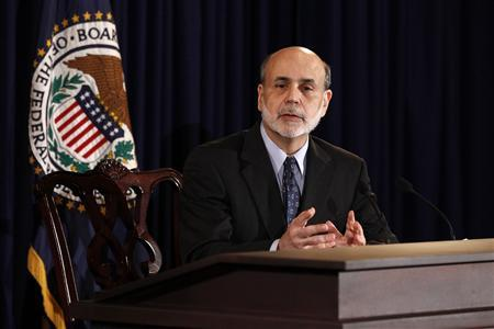 Chairman of the Federal Reserve Ben Bernanke holds a press briefing in Washington, June 22, 2011. REUTERS/Kevin Lamarque