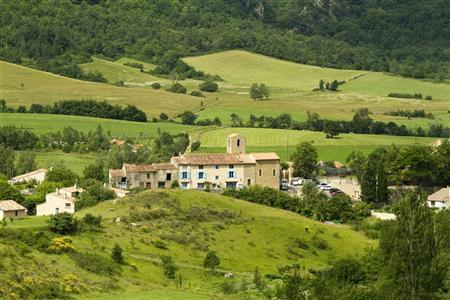 General view of the village of Bugarach, in southwestern France, is seen June 24, 2011. REUTERS/Jean-Philippe Arles