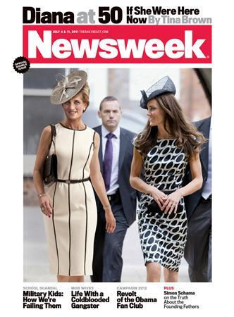 Princess Diana on the cover of Newsweek. REUTERS/Courtesy of Newsweek