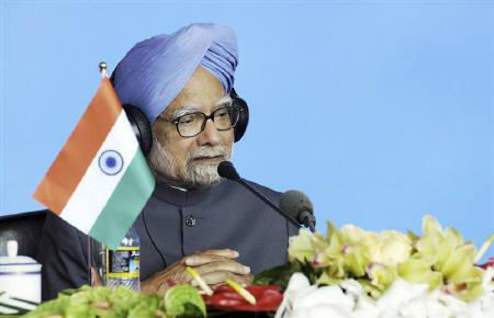 Prime Minister Manmohan Singh speaks at a joint news conference during the BRICS (Brazil, Russia, India, China and South Africa) summit in Sanya, on the southern Chinese island of Hainan, April 14, 2011. REUTERS/Press Information Bureau of India/Handout/Files