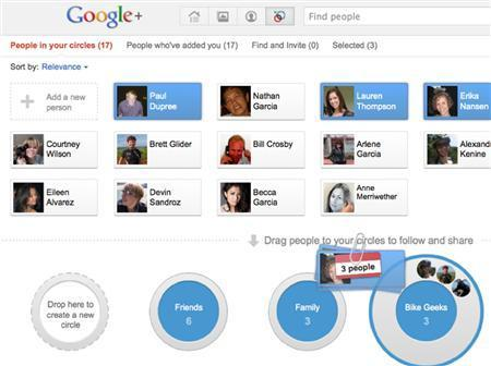 A screen shot of the Google Plus social network is shown in this publicity photo released to Reuters June 28, 2011. REUTERS/Google/Handout