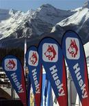 <p>Banners for the Canadian company Husky Energy are seen at a sporting event in Lake Louise, Alberta December 1, 2009. Husky is one of Canada's largest energy companies based in Calgary. REUTERS/Andy Clark</p>