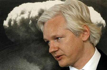 WikiLeaks founder Julian Assange speaks during a news conference at the Frontline Club in London May 10, 2011. REUTERS/Stefan Wermuth
