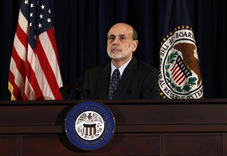 Chairman of the Federal Reserve Ben Bernanke holds a press briefing in Washington June 22, 2011. REUTERS/Kevin Lamarque